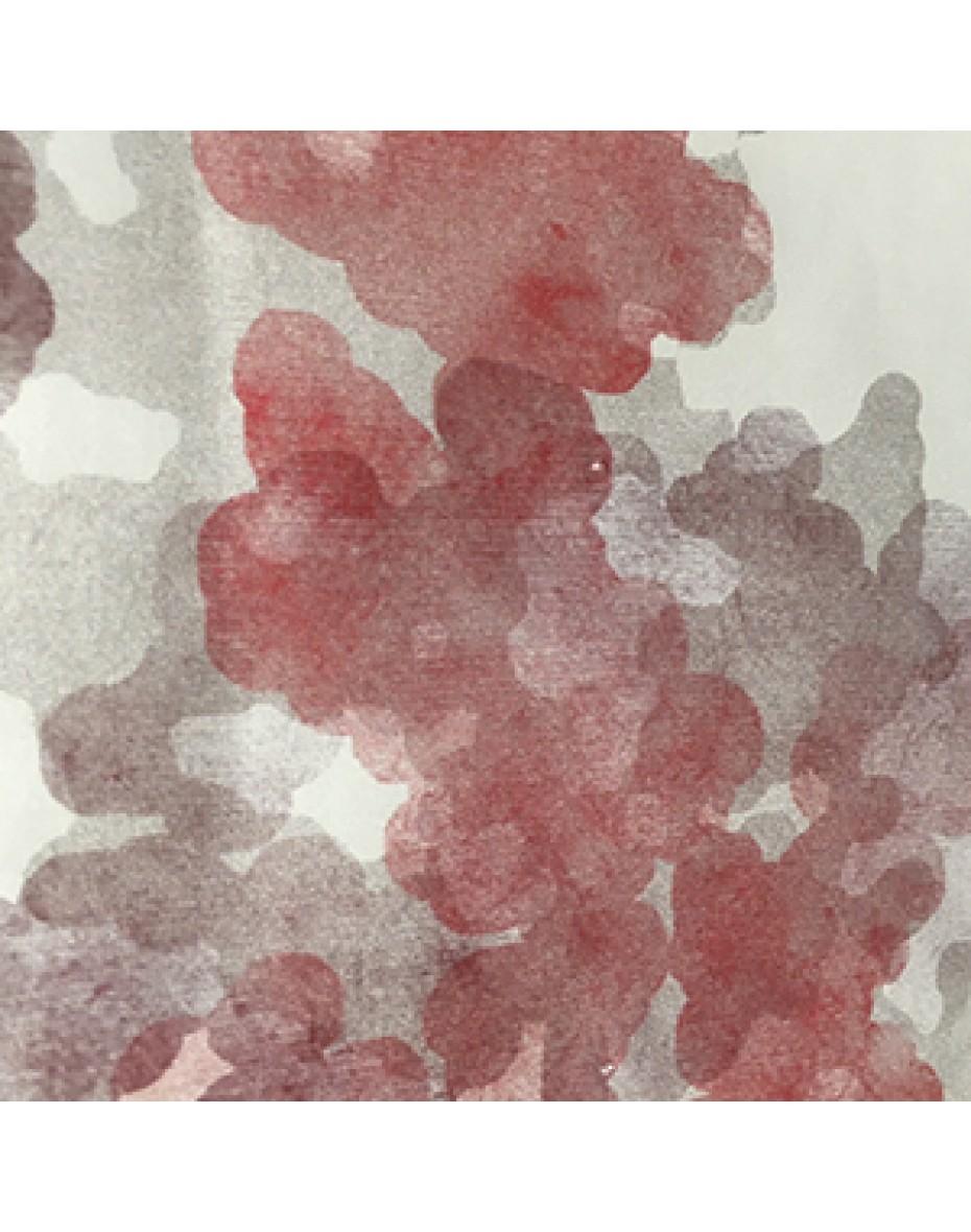Látka Aqua 02 - červená/sivá 151/302 cm