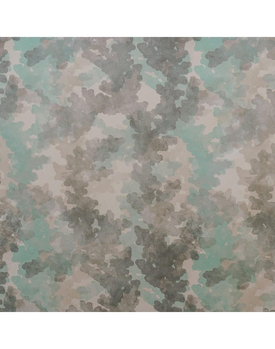 Látka Aqua 04 - zelená/sivá 151/302 cm