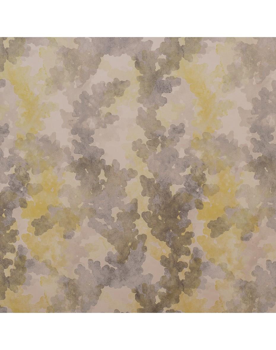Látka Aqua 05 - žltá/sivá 151/302 cm