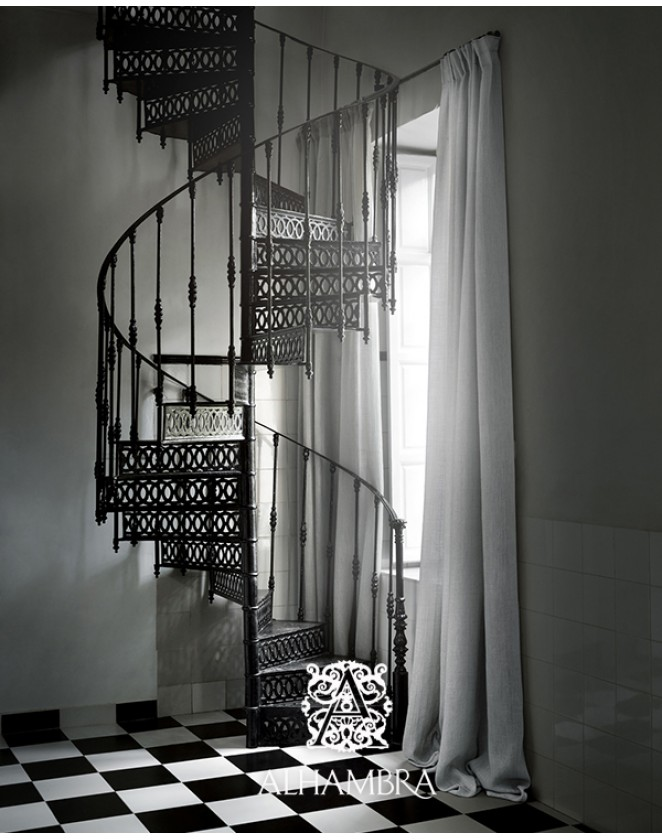 Trblietavá záclonová látka Wind - dvojitá šírka Alhambra Dandelion 44.40