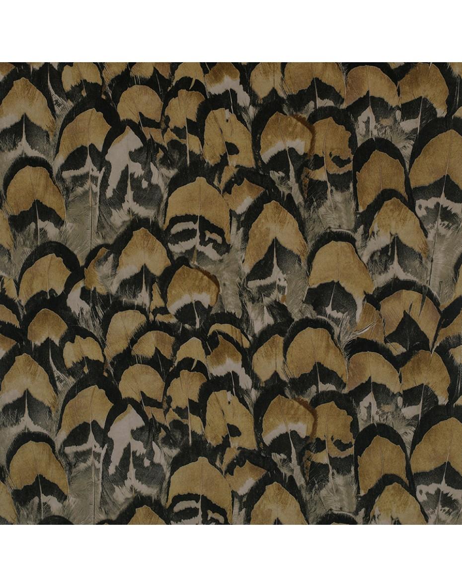 Zamatový vankúš Niara - hnedé pierka 60x30