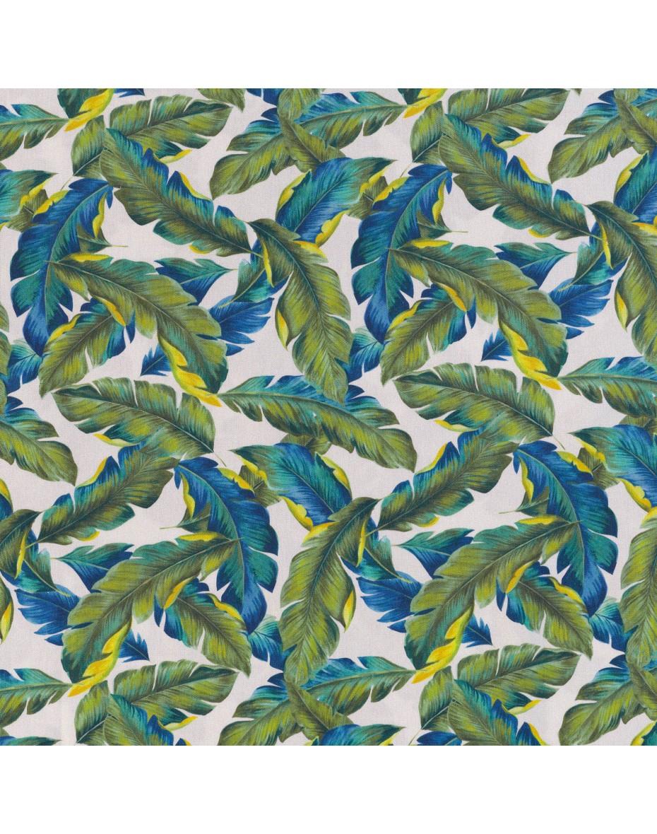 Exteriérová látka Plumes 01 - zelená/modrá - extra 280cm