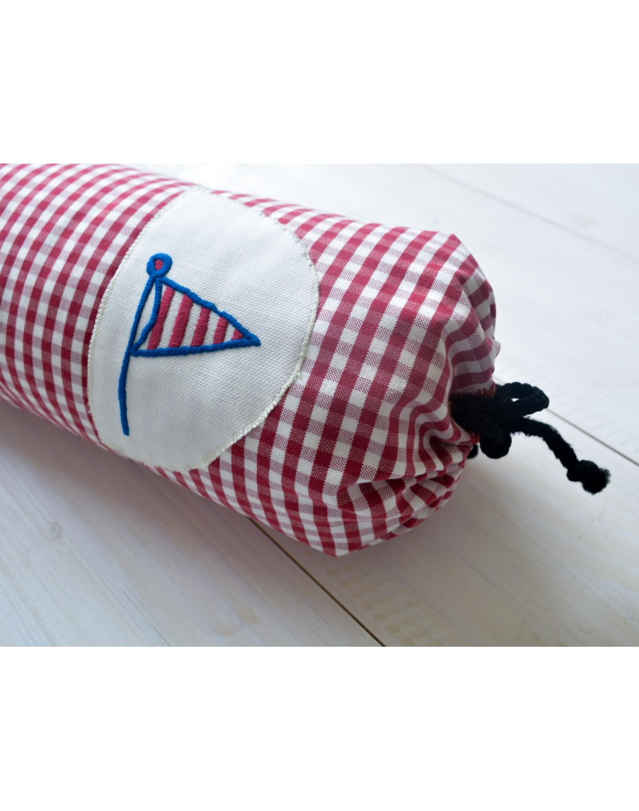 Červenobiely valec  pre deti 46 cm dľžka