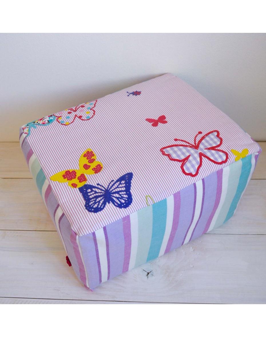 Taburetka s motýlikmi  35x26x22
