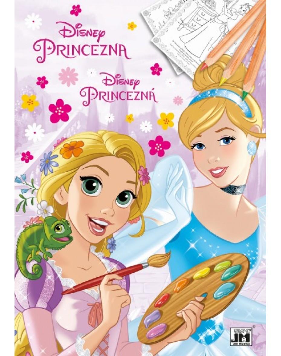 Omaľovanka Disney Princezné A4