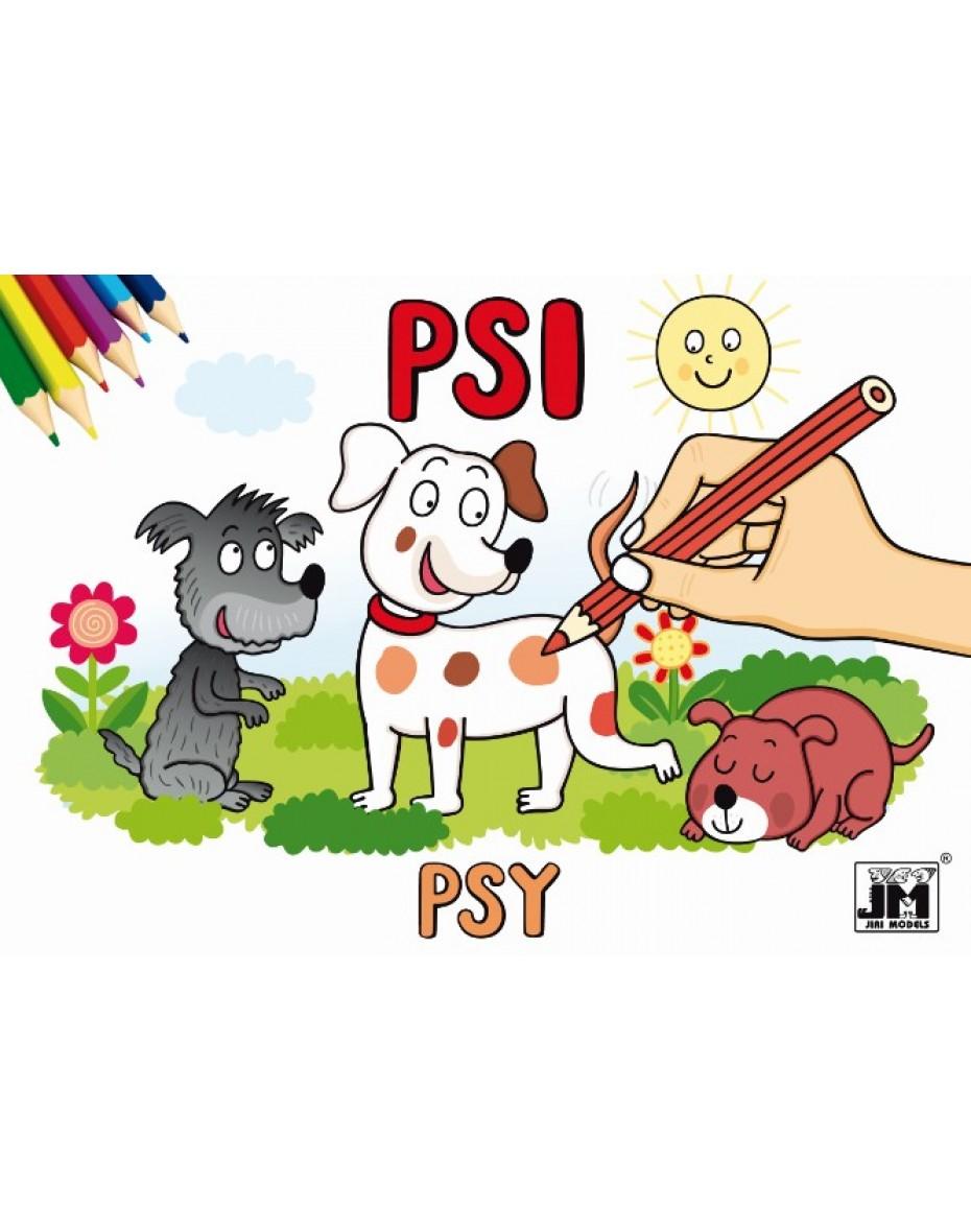 Vymaľovanka Psy A5