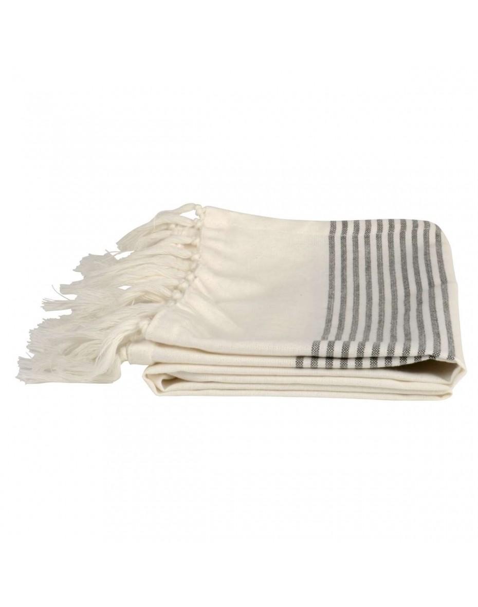 0af60f41e5 Osuška bavlnená so sivými prúžkami 160x106 veľká Ib Laursen Ostatný bytový  textil 21.63