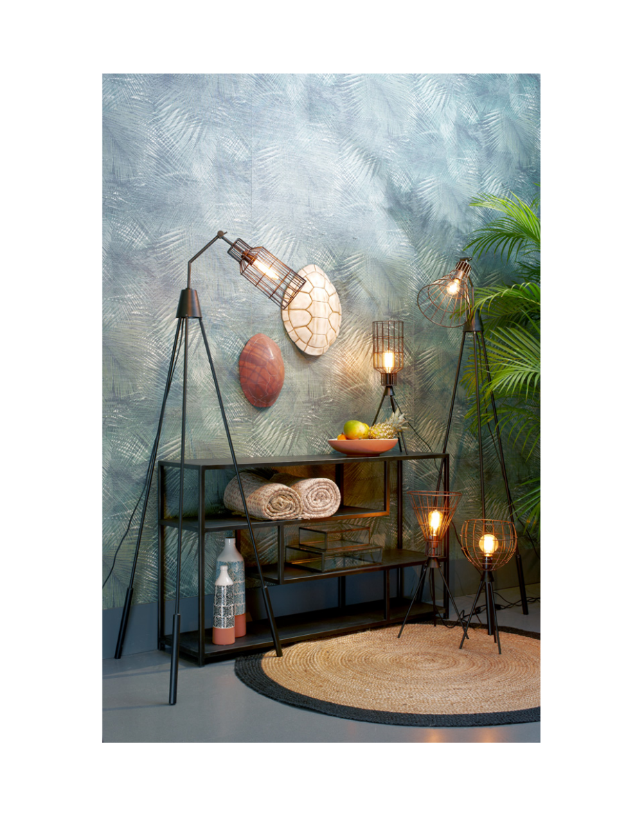 Lampa Jefferson - biela 64 cm výška