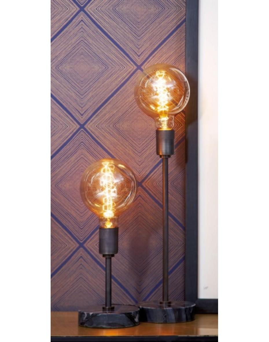 Stolná lampa s mramorovým podstavcom - Narvic 30 cm výška