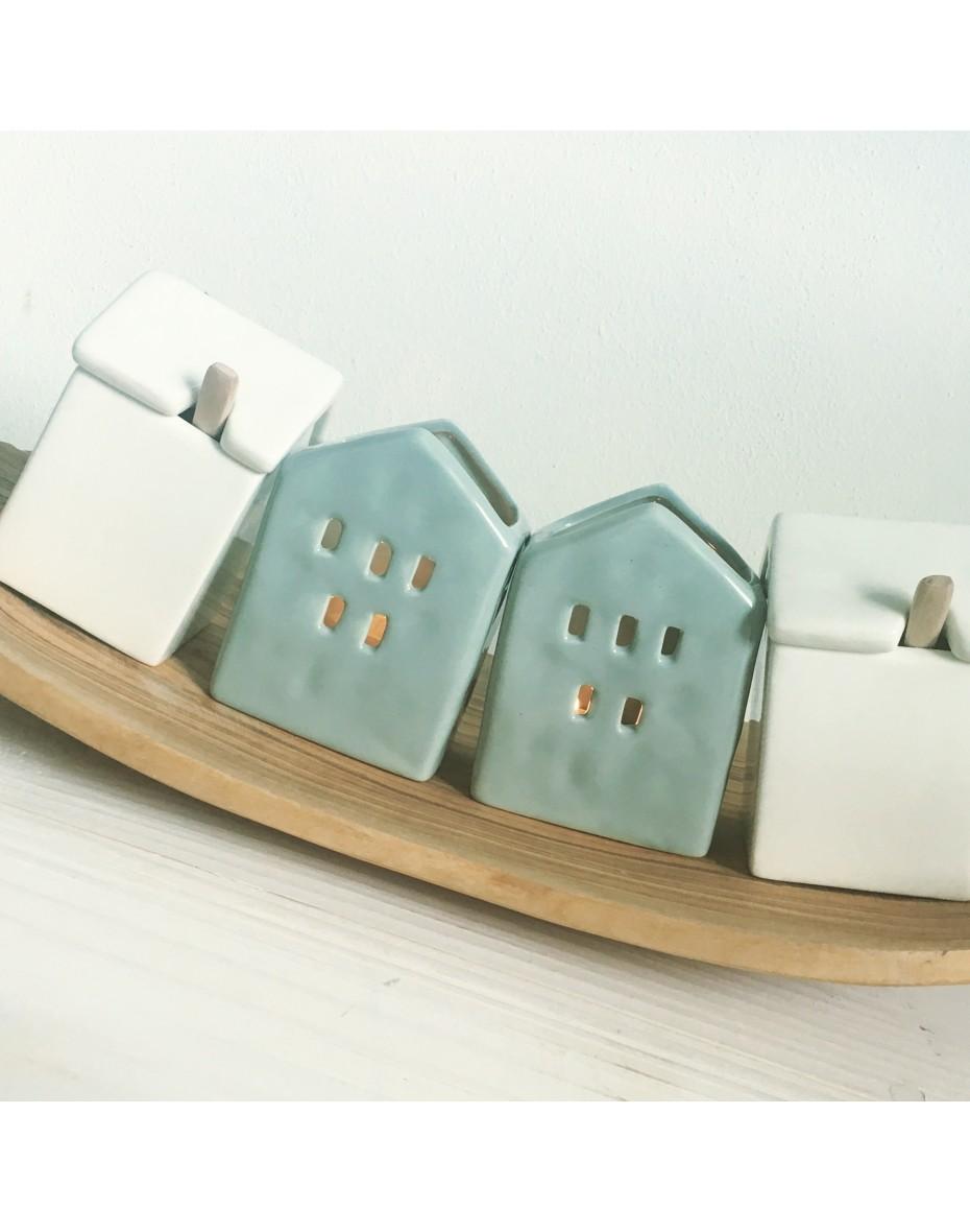 Keramický domček  7x5x9,5 - zelený