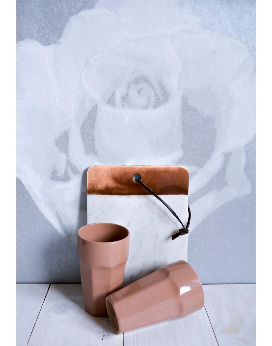Keramický pohár hnedý 330 ml
