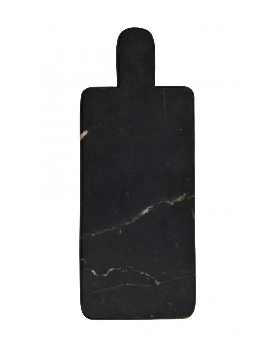 Doska z čierneho mramoru na krájanie 15x37 cm