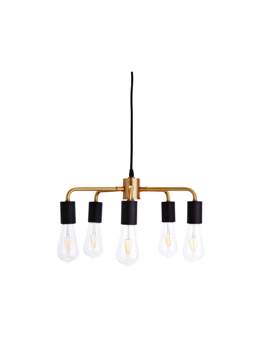 Zlato-čierny dizajnový luster