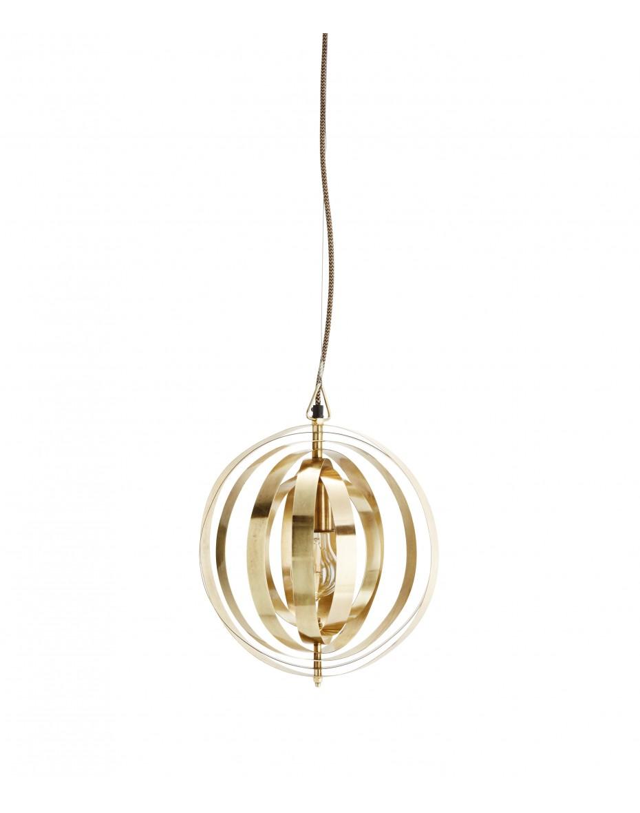 Zlatá dizajnová lampa