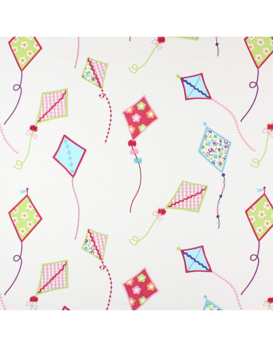 Bavlna na jeseň pre deti -  vyšívané šarkány - Tropical