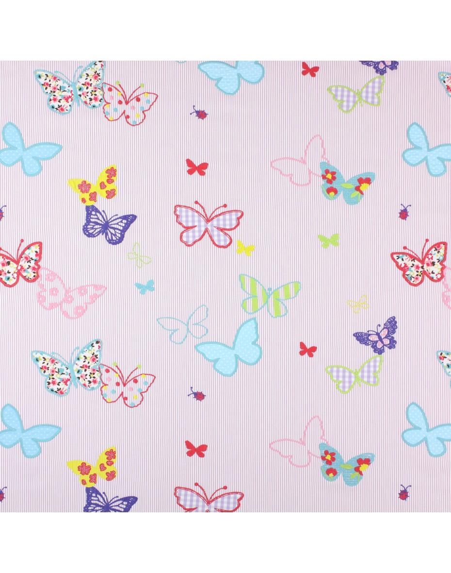 Detská látka vyšívané motýle - Tropical