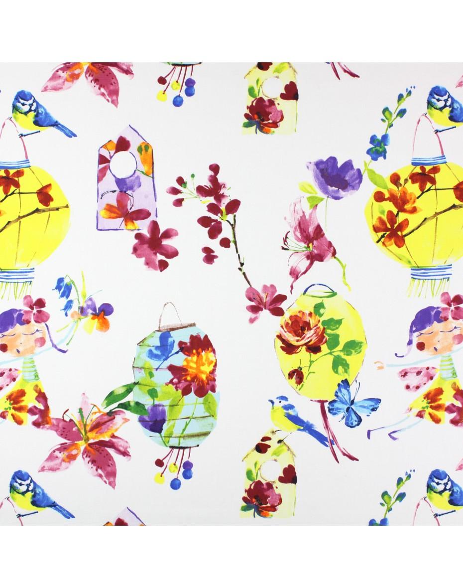Látka Lily lantern - Tropical pre deti
