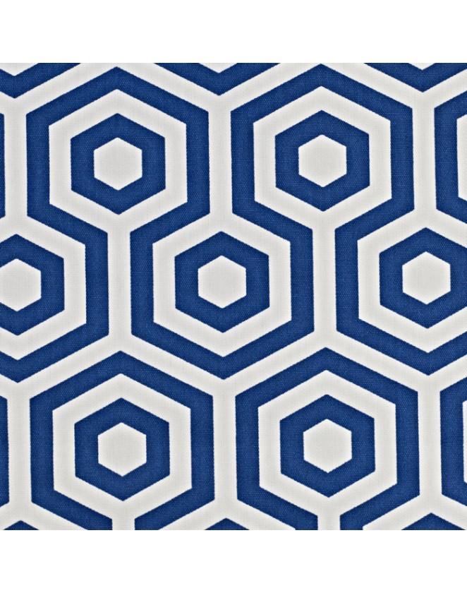 Látka Hex - Cobalts grafickým vzorom Prestigious Textiles Cube 19.90