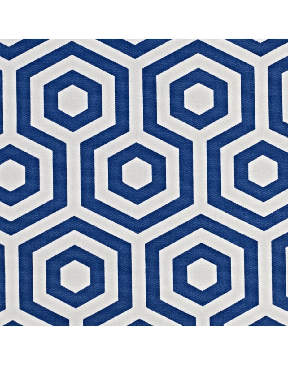 Látka Hex - Cobalts grafickým vzorom
