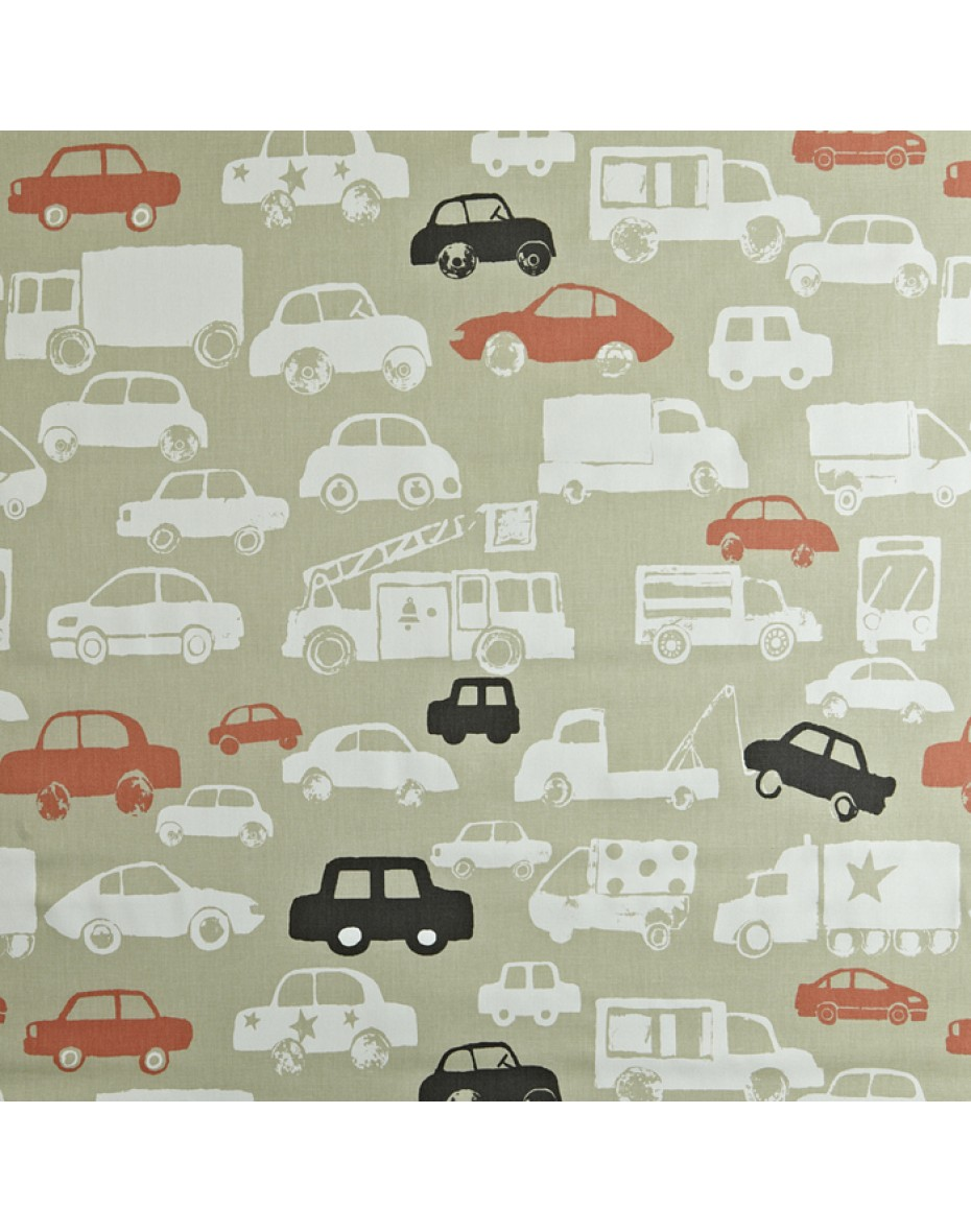 Detská bavlna látka autá -  Go - Orange