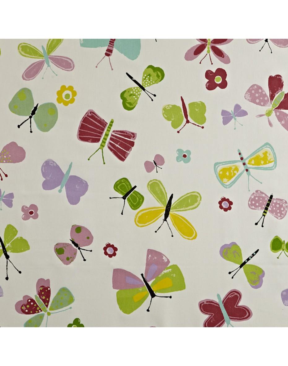 Detská bavlna látka motýle  Florence - Petal