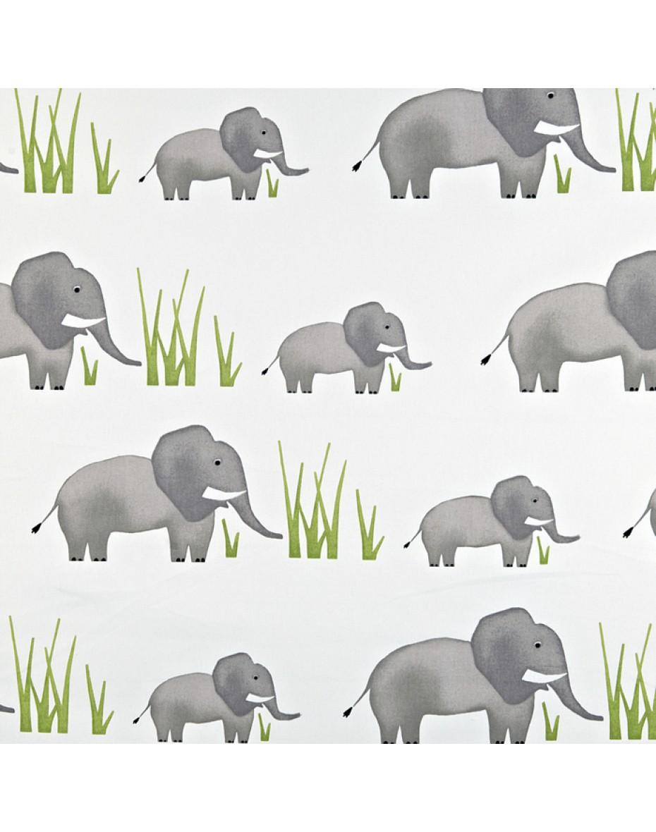 Detská bavlna látka sloníky  Jumbo - Elephant