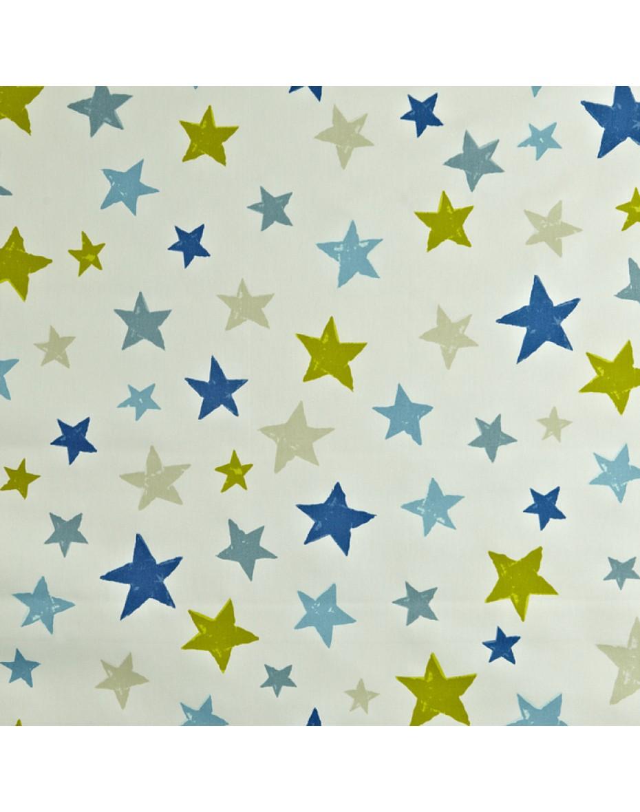 Detská bavlna látka Superstar - hviezda