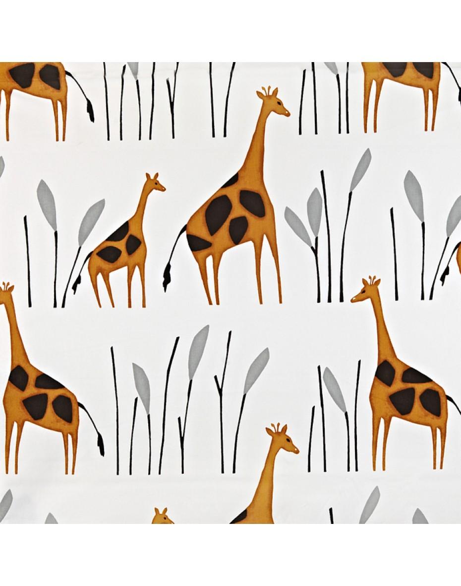 Detská bavlna látka žirafy  Geoffrey