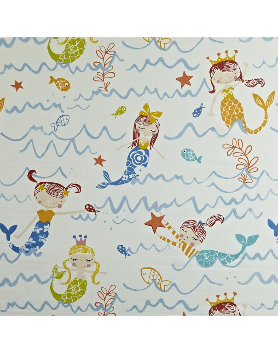 Látka Mermaid - Azure