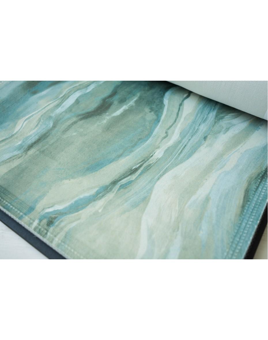 Zamatová látka Lava Seafoam - zelená a modrá
