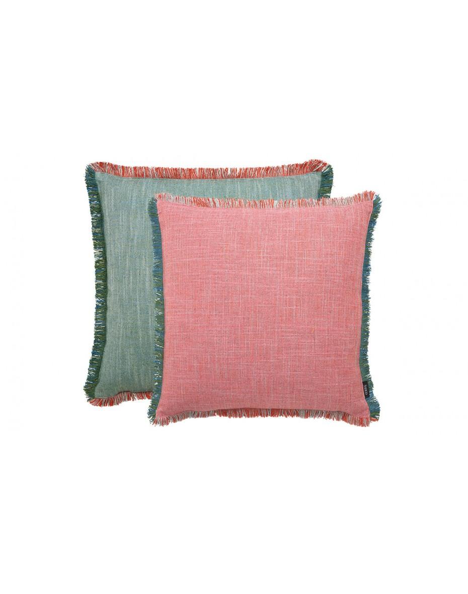 Vankúš Ellis 50x50 - ružová/zelená