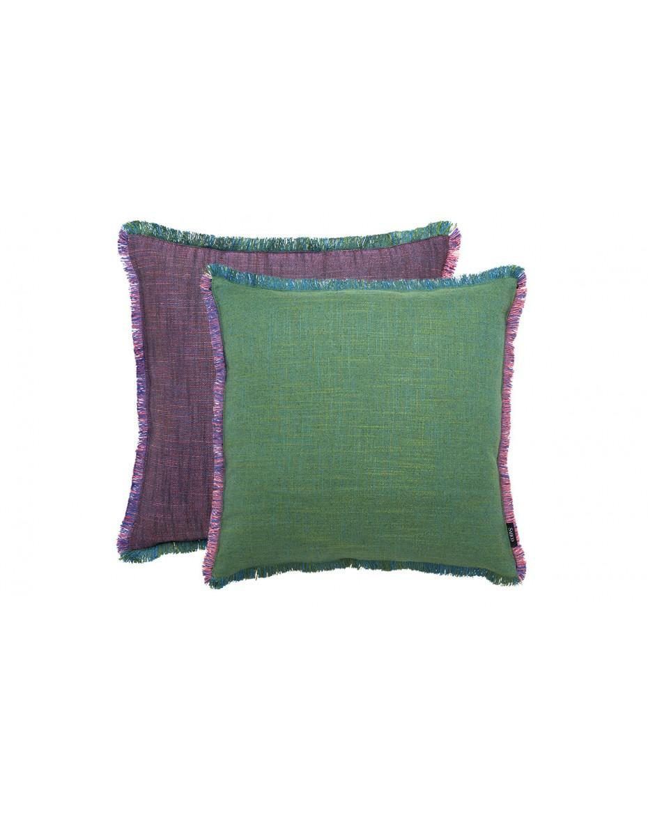 Vankúš Ellis 50x50 - fialová/zelená