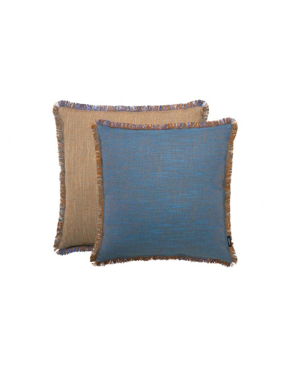 Vankúš Ellis 50x50 - hnedá/modrá