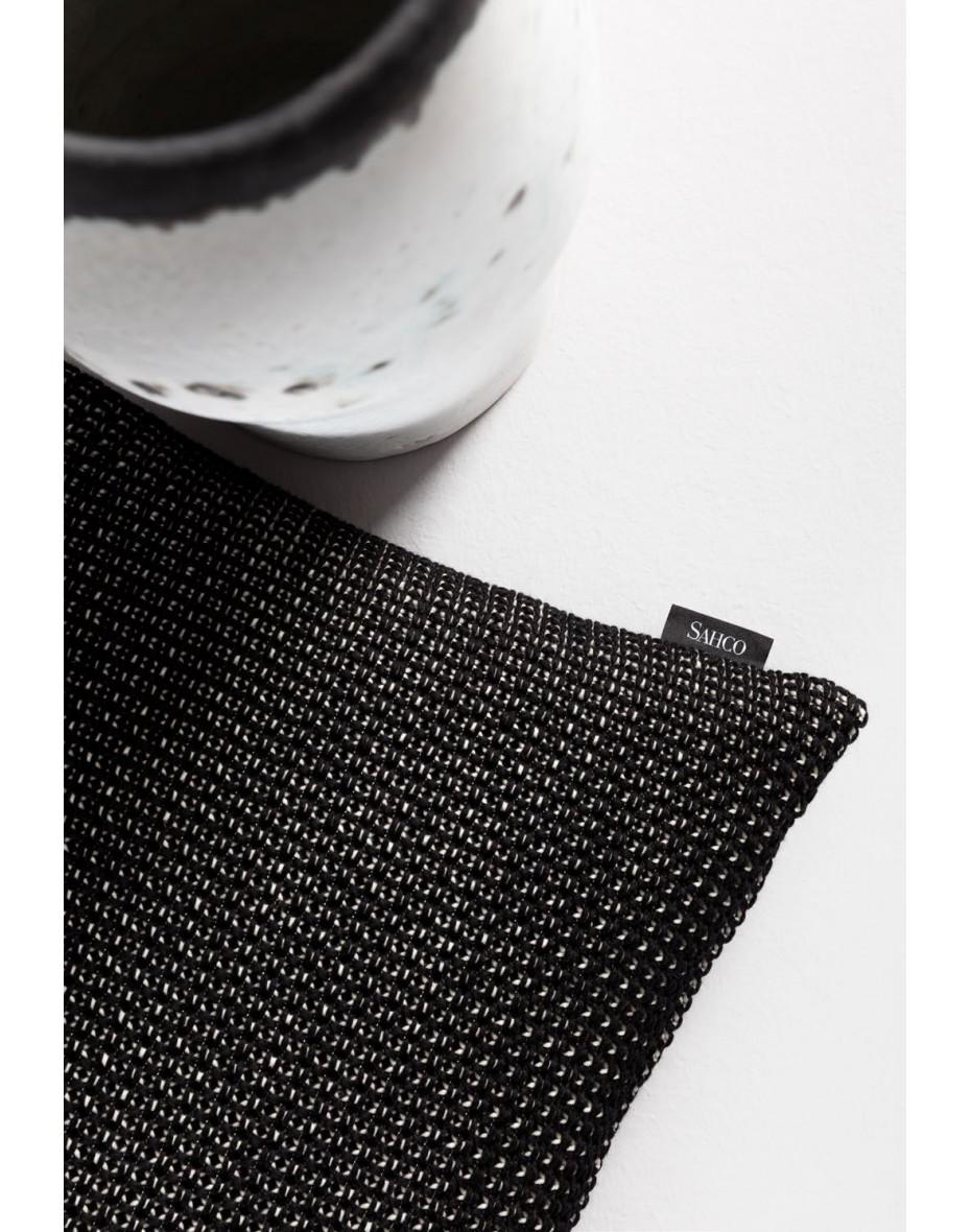 Vankúš Faroe 40x60 - sivá/čierna