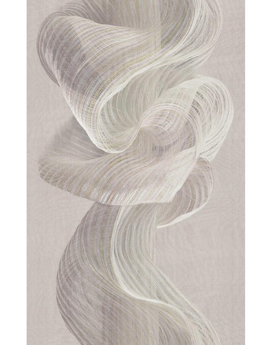 Tapetový panel Twisted Rainbow ABD32 - biela so sivým až fialovým nádychom