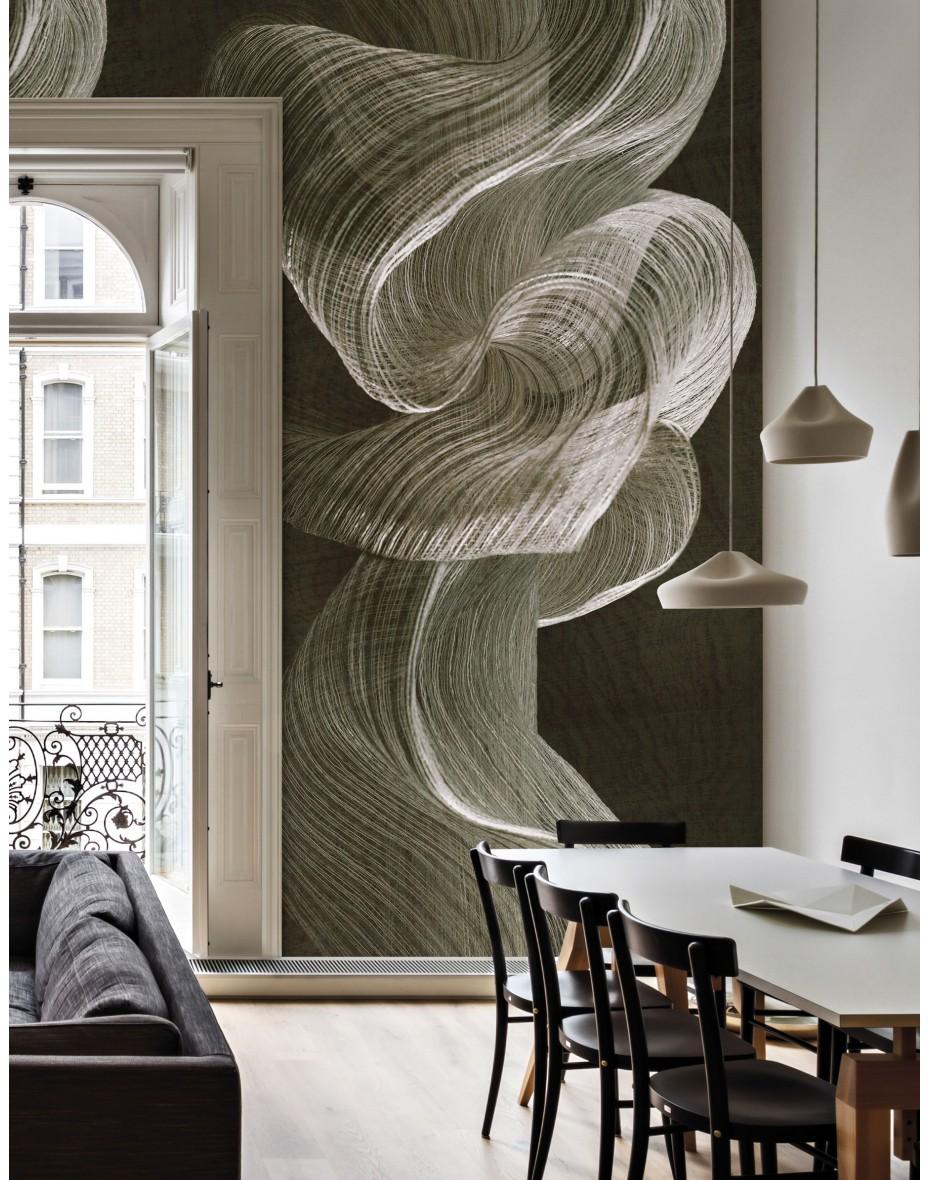 Tapetový panel Twisted Rainbow ABD33 - hnedá/sivá